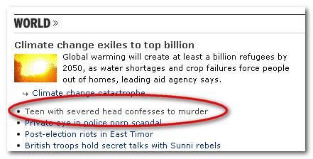 Severed headheadline