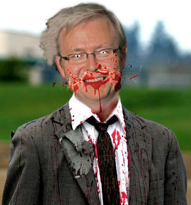 Kevin Rudd stars as Zombie Rudd in my new movie