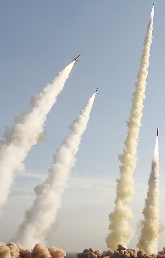 North Korean missiles. From Earth with love.